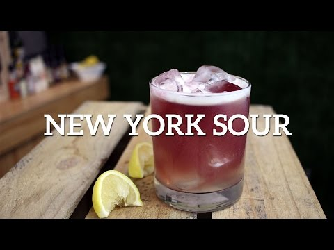 (New) New york sour cocktail recipe