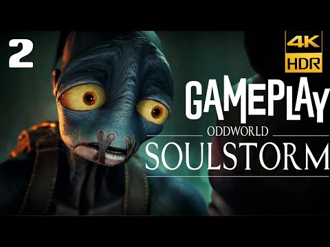 (New) Oddworld soulstorm ps5 gameplay walkthrough part 2 [4k 60fps] - no commentary (full game)
