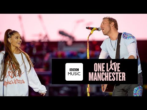 (New) Chris martin and ariana grande - dont look back in anger (one love manchester)