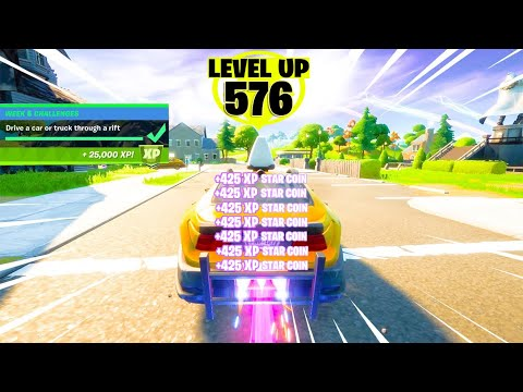 (New) Level up fast with this new secret trick in fortnite! (fastest xp!)