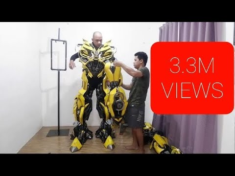 (VFHD Online) Hd transformers: bumblebee costume indoor suit up fan made