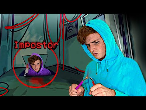 (New) Reacting to among us in real life.. (terrifying)