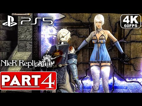 (New) Nier replicant ps5 gameplay walkthrough part 4 boss fight [4k 60fps] - no commentary (full game)