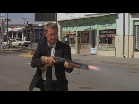 (New) Steve mcqueen shotguns the shit out of cop-car the getaway